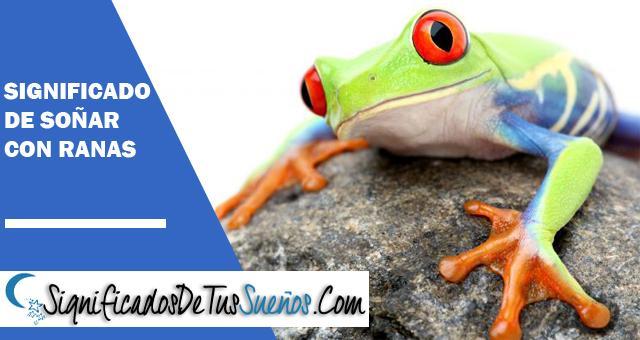 El significado de Soñar con ranas